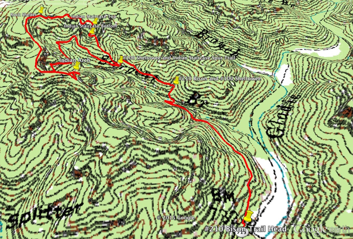 Red River Gorge Topographic Map.Indian Staircase And Indian Arch Loop 3 5 Miles Unmarked To Red